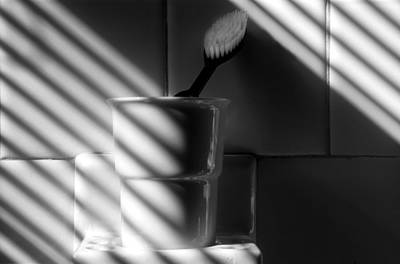 Photograph - Tooth Brush In Cup by Harold E McCray