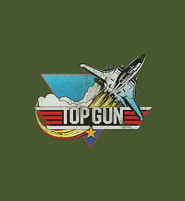 Goose Digital Art - Top Gun - Distressed Logo by Brand A