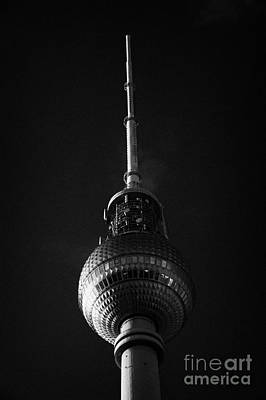 top of the berliner fernsehturm Berlin TV tower symbol of east berlin Germany Art Print by Joe Fox