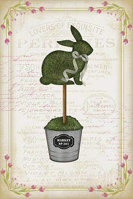 Shrubbery Painting - Topiary Bunny by Jennifer Pugh