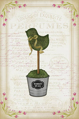 Shrubbery Painting - Topiary Chick by Jennifer Pugh
