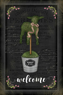 Shrubbery Painting - Topiary Lamb by Jennifer Pugh