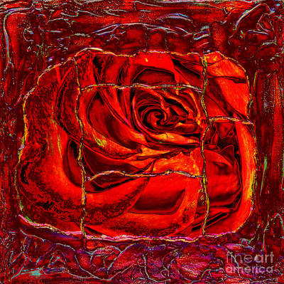 Torn Rose Print by Pattie Calfy