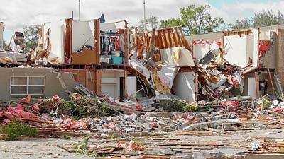 Rubble Photograph - Tornado Damage by Jim Edds
