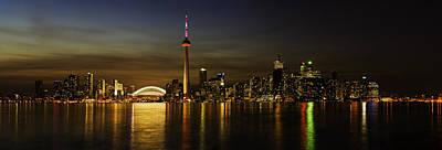 Toronto Evening Sky Line Panorama Art Print