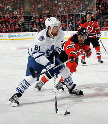 Photograph - Toronto Maple Leafs V New Jersey Devils by Bruce Bennett