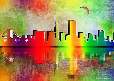 Digital Watercolor Painting - Toronto  by Mark Ashkenazi