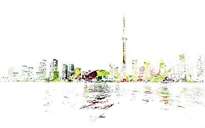Painting - Toronto Skyline  by Doc Braham