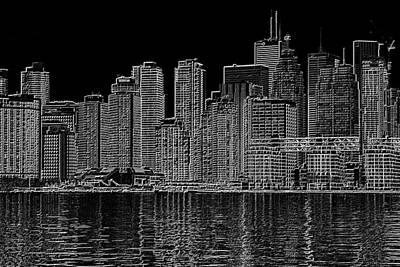 Photograph - Toronto Skyline by Valentino Visentini