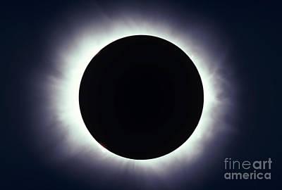 Total Solar Eclipse Taken Art Print by Alan Dyer