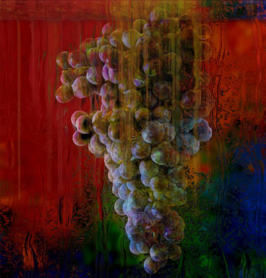 Captured Rain Painting - Touch Of The Grape by Jack Zulli