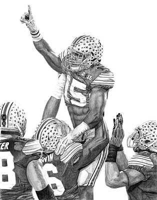 Sports Drawings - Touchdown by Bobby Shaw