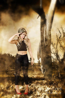 Photograph - Tough Australian Pin-up Girl. Spirit Of The Anzac by Jorgo Photography - Wall Art Gallery