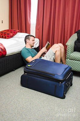 Publicity Photograph - Tourist Planning Travel Tour In Hotel Room by Jorgo Photography - Wall Art Gallery