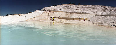 Natural Pool Photograph - Tourists At A Hot Springs by Panoramic Images