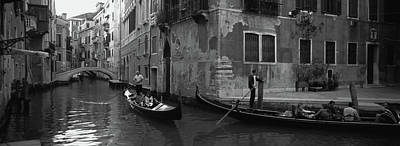 Tourists In A Gondola, Venice, Italy Art Print
