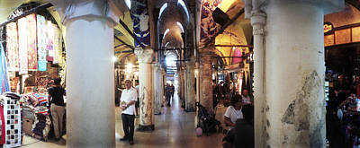 Grand Bazaar Photograph - Tourists In A Market, Grand Bazaar by Panoramic Images