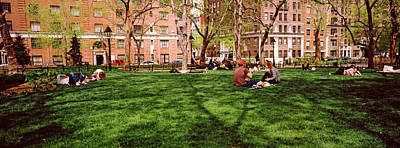 Tourists In A Park, Washington Square Art Print
