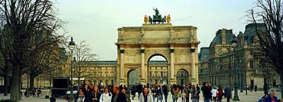 Arc De Triomphe Photograph - Tourists Near A Triumphal Arch, Arc De by Panoramic Images