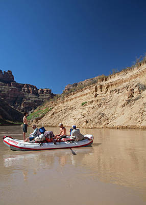 Tourists Rafting Art Print by Jim West