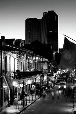 Bourbon Street Photograph - Tourists Walking In The Street, Bourbon by Panoramic Images