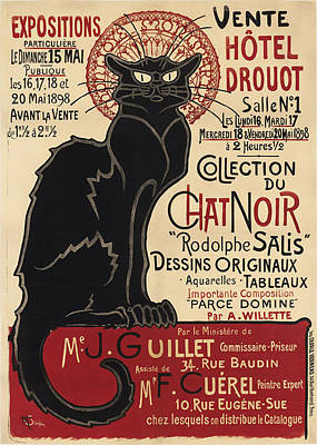 Old Painting - Tournee Du Chat Noir by Celestial Images