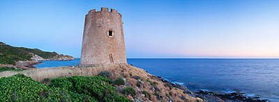 Sud Photograph - Tower At The Seaside, Saracen Tower by Panoramic Images
