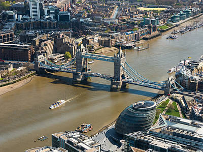 Modern Kitchen - Tower Bridge and London City Hall aerial view by Dutourdumonde Photography