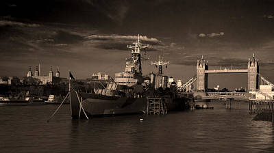 Abstract Skyline Rights Managed Images - Tower  Bridge HMS Belfast Tower of London Royalty-Free Image by David French