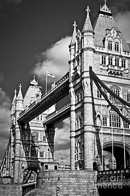 Historical Photograph - Tower Bridge In London by Elena Elisseeva