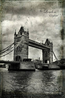 Photograph - Tower Bridge In London by Jill Battaglia