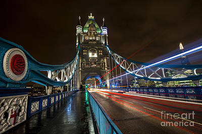 Tower Bridge London Art Print by Donald Davis