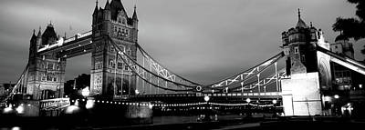Gothic Bridge Photograph - Tower Bridge, London, United Kingdom by Panoramic Images