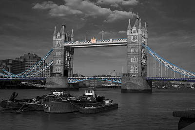 Photograph - Tower  Bridge Thames London by David French