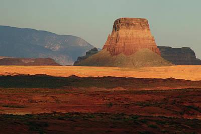Tower Butte At Sunset, Glen Canyon Art Print