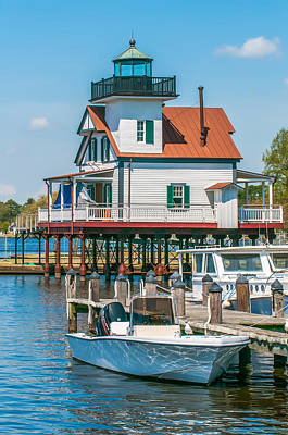 Photograph - Town Of Edenton Roanoke River Lighthouse In Nc by Alex Grichenko