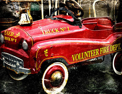 Photograph - Toy Fire Truck by Bobbi Feasel