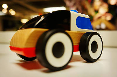 In A Row Painting - Toy Vehicle by Celestial Images
