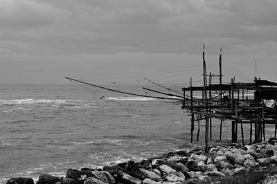 Trabocco On The Coast Of Italy  Art Print by Andrea Mazzocchetti
