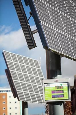Tracking Solar Voltaic Panels Art Print