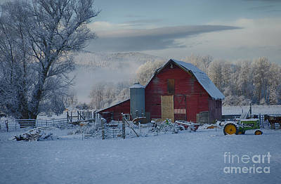 Photograph - Tractor And Barn by Idaho Scenic Images Linda Lantzy