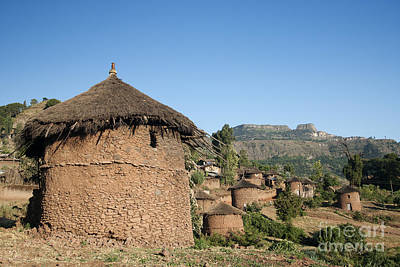 Photograph - Traditional African Village Houses In Lalibela Ethiopia by Jacek Malipan