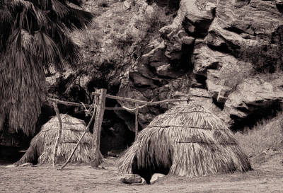 Traditional Cahuilla Indian Huts Art Print by Sandra Selle Rodriguez
