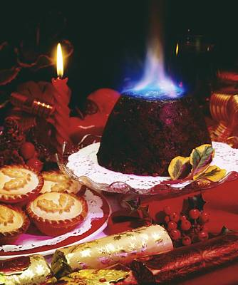 Traditional Christmas Dinner In Ireland Art Print by The Irish Image Collection
