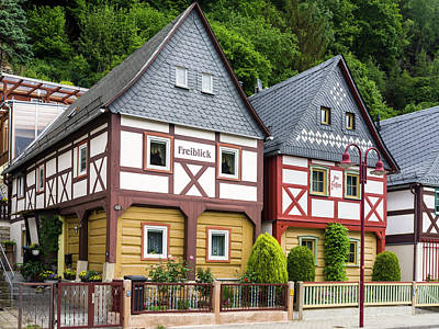 Traditional Half-timbered Buildings Art Print