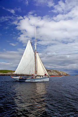 Photograph - Traditional Sailing Boat by Gary Eason