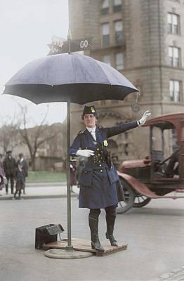 Policewoman Photograph - Traffic Cop In Washington D.c., Circa by Stocktrek Images