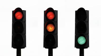 Traffic Lights Art Print by Cordelia Molloy