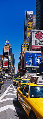 Traffic On A Street, Times Square Print by Panoramic Images