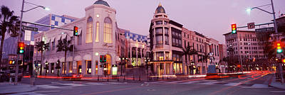 Traffic On The Road, Rodeo Drive Art Print by Panoramic Images